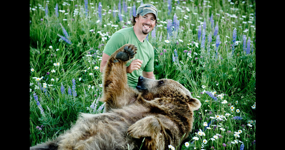man and bear16 - a man and his grizzly bear