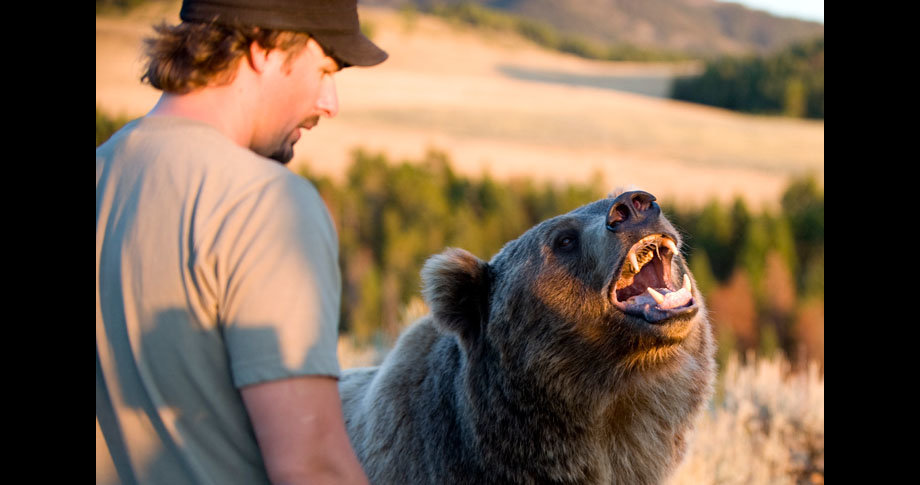 man and bear18 - a man and his grizzly bear