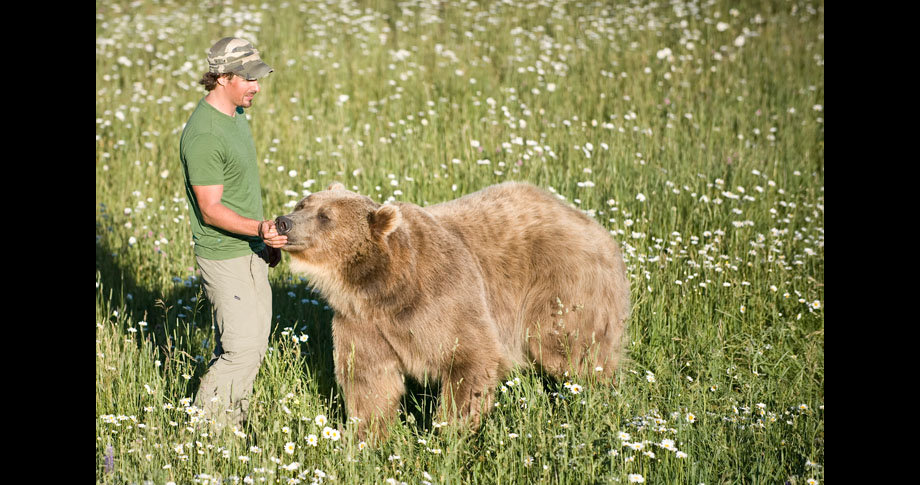 man and bear22 - a man and his grizzly bear