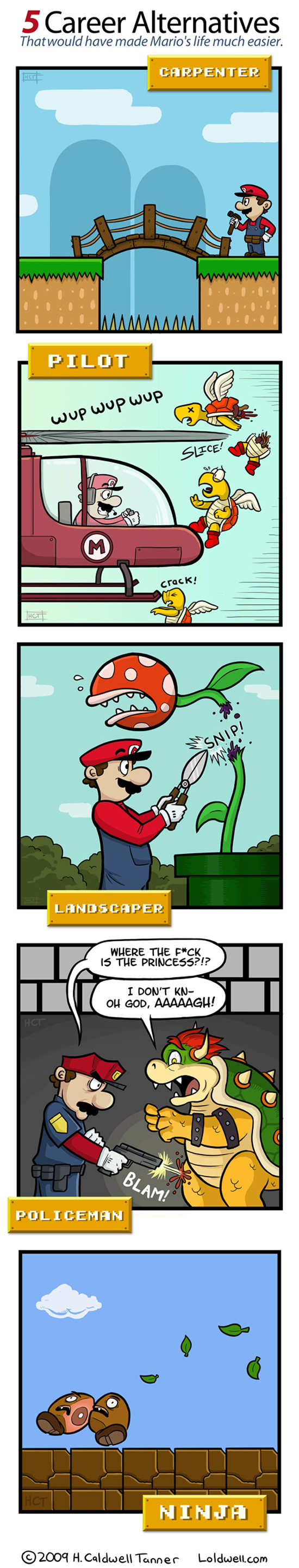 mario - what if mario wasn't a plumber?