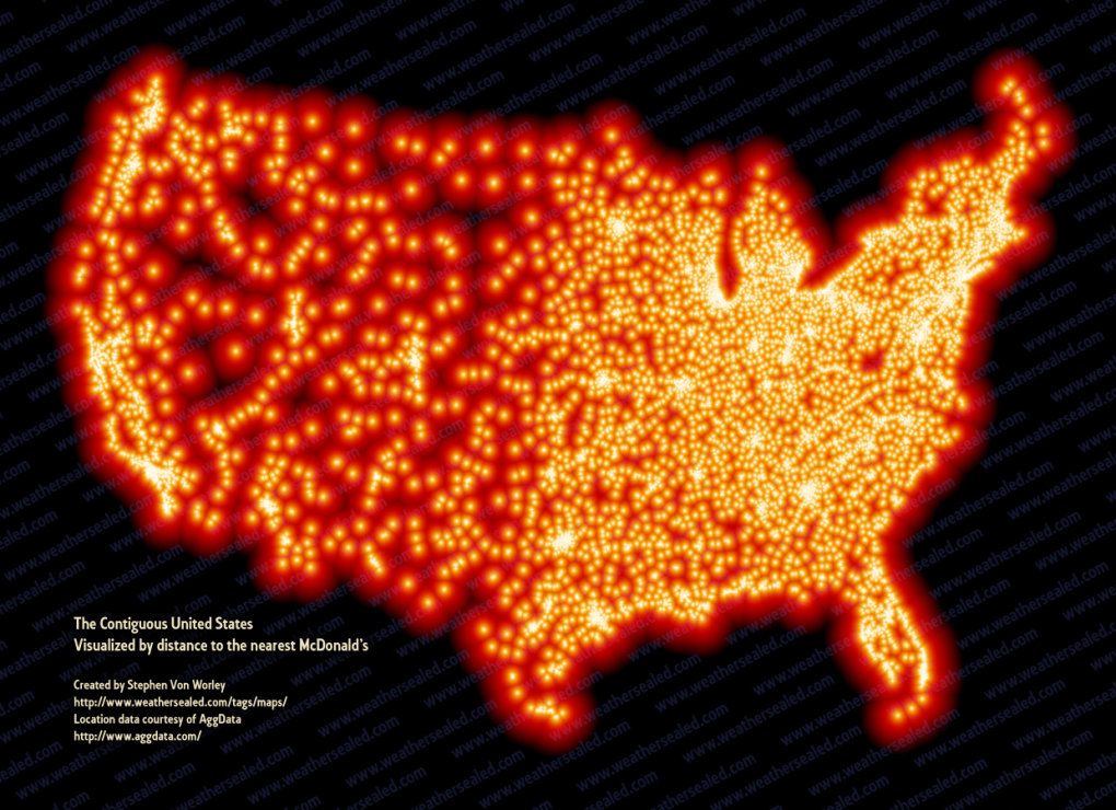 mcsparenesness0909 - map of every mcdonald's in the us