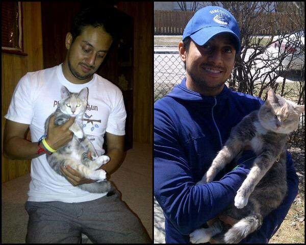 me and my cat - people and their pets getting older together