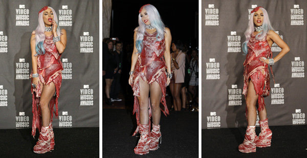 meatdresscombo - lady gaga`s new dress