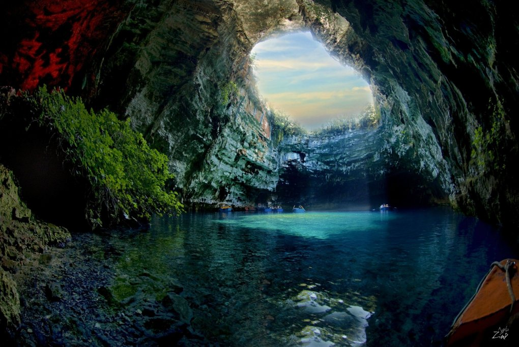 melissani cave located kefalonia island greece quotwas lost for centuries but