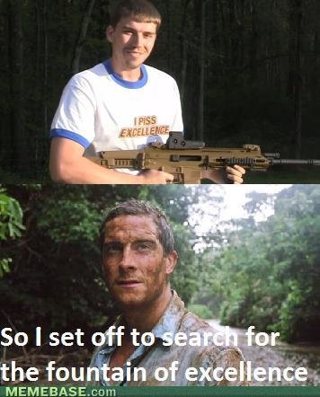 memes bear grylls fountain excellence