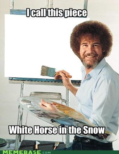 memes call piece white horse snow