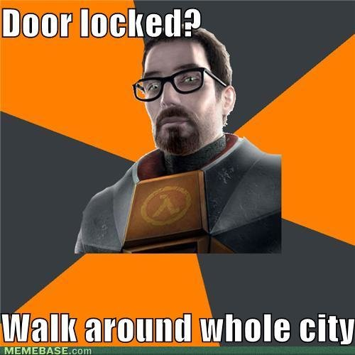 memes door locked walk around whole city