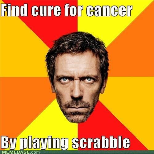 memes find cure for cancer playing scrabble