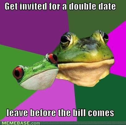 memes get invited for double date leave before bill comes