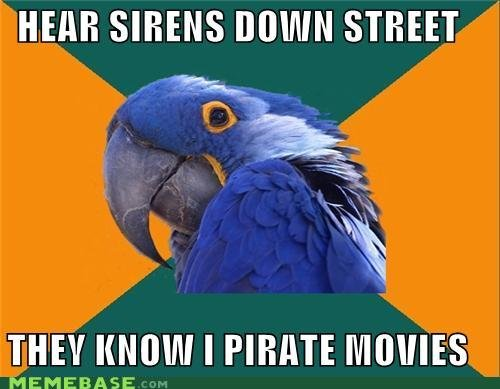 memes hear sirens down street they know pirate movies