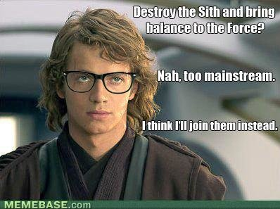 memes hipster anakin