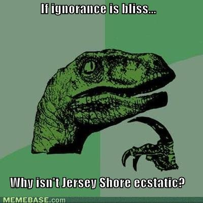 memes ignorance bliss why isnt jersey shore ecstatic