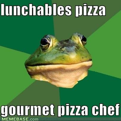 memes lunchables pizza gourmet pizza chef