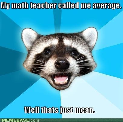 memes math teacher called average well thats mean