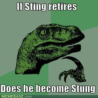 memes sting retires does become stung