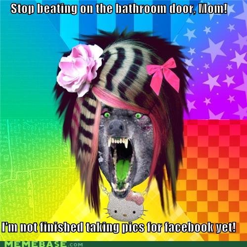 memes stop beating bathroom door mom not finished taking pics for