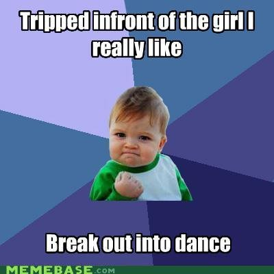 memes tripped infront girl really like