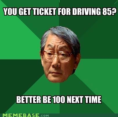 memes get ticket for driving