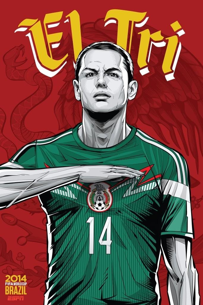 mexico - world cup 2014 team posters