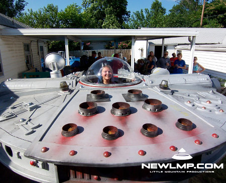 mf wish 1 - make-a-wish millennium falcon gets installed