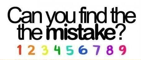 mistake - can you find the mistake?