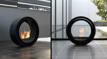 modern electric fireplace design