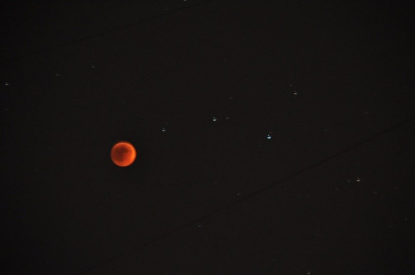 moon eclipse view from odessa