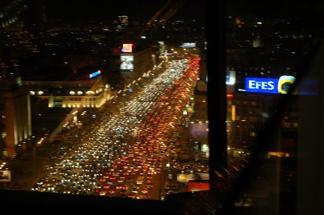 moscow - moscow (russia) city traffic
