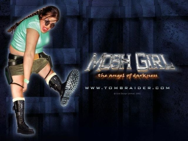 mosh girl photomontage