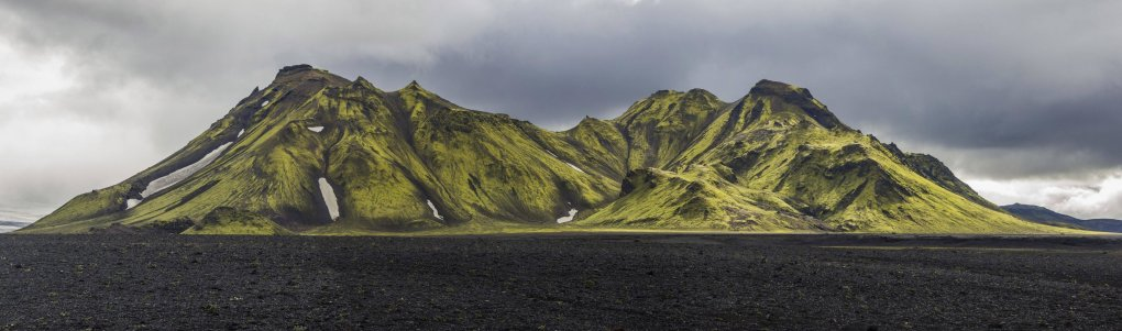 moss covered mountains southwest iceland
