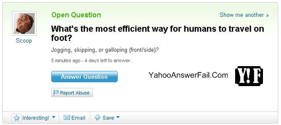 most efficient way for humans