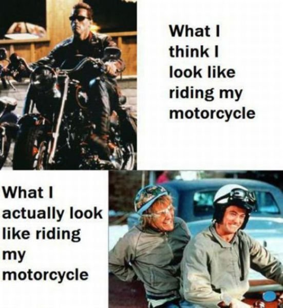 motorcycle - expectations vs reality