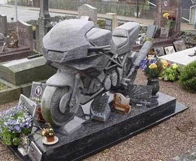 motorcycle - funny tombstones