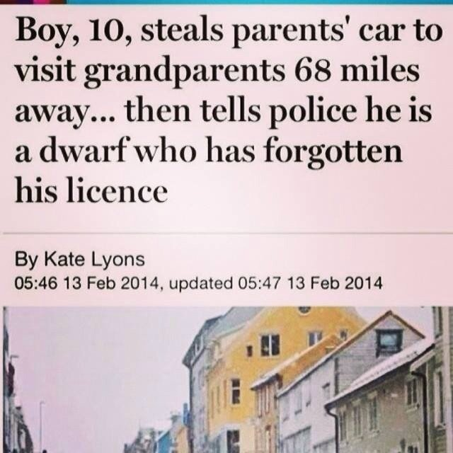 must really wanted see his grandparents