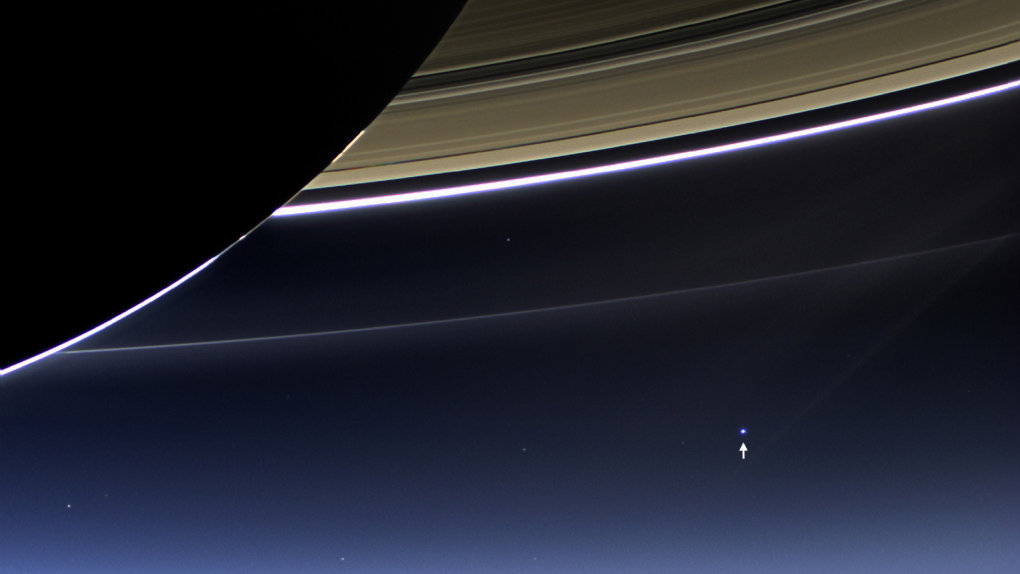 nasa releases image earth from beyond saturn cassini