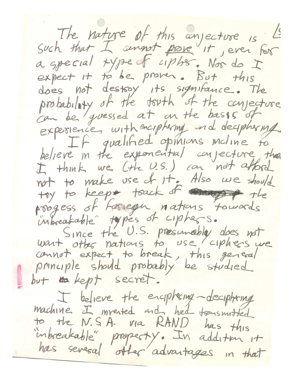 nash letters page
