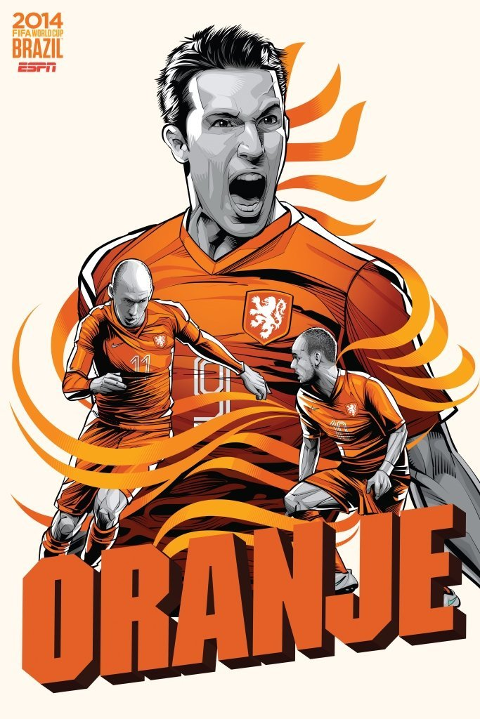 netherlands - world cup 2014 team posters