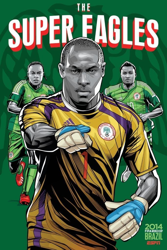 nigeria - world cup 2014 team posters