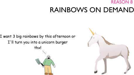 nine - 10 reasons it would rule to date a unicorn !