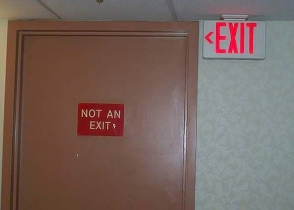 not exit sign