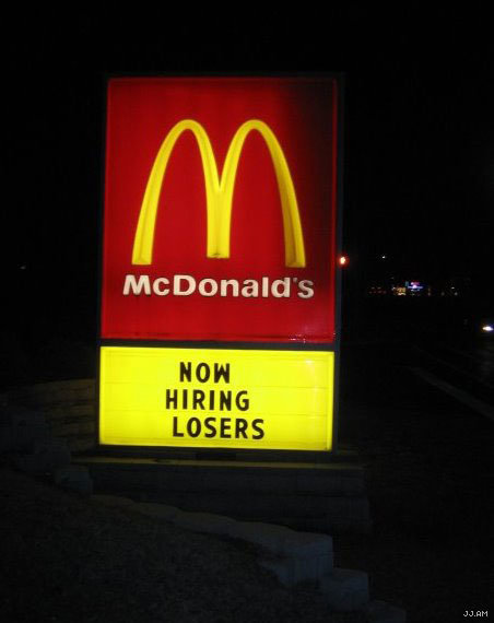 now hiring losers