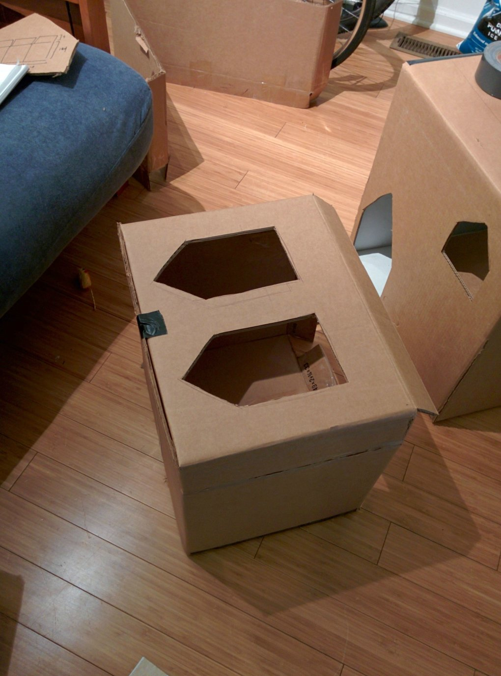 oe9z62q - why don't we build cardboard castle to our cats? this is how to do it.
