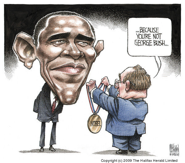 obama - because you're not george bush!