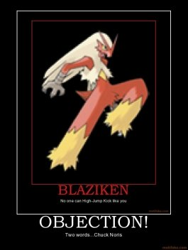 objection pokemon chuck demotivational poster