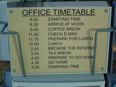 office timetable india