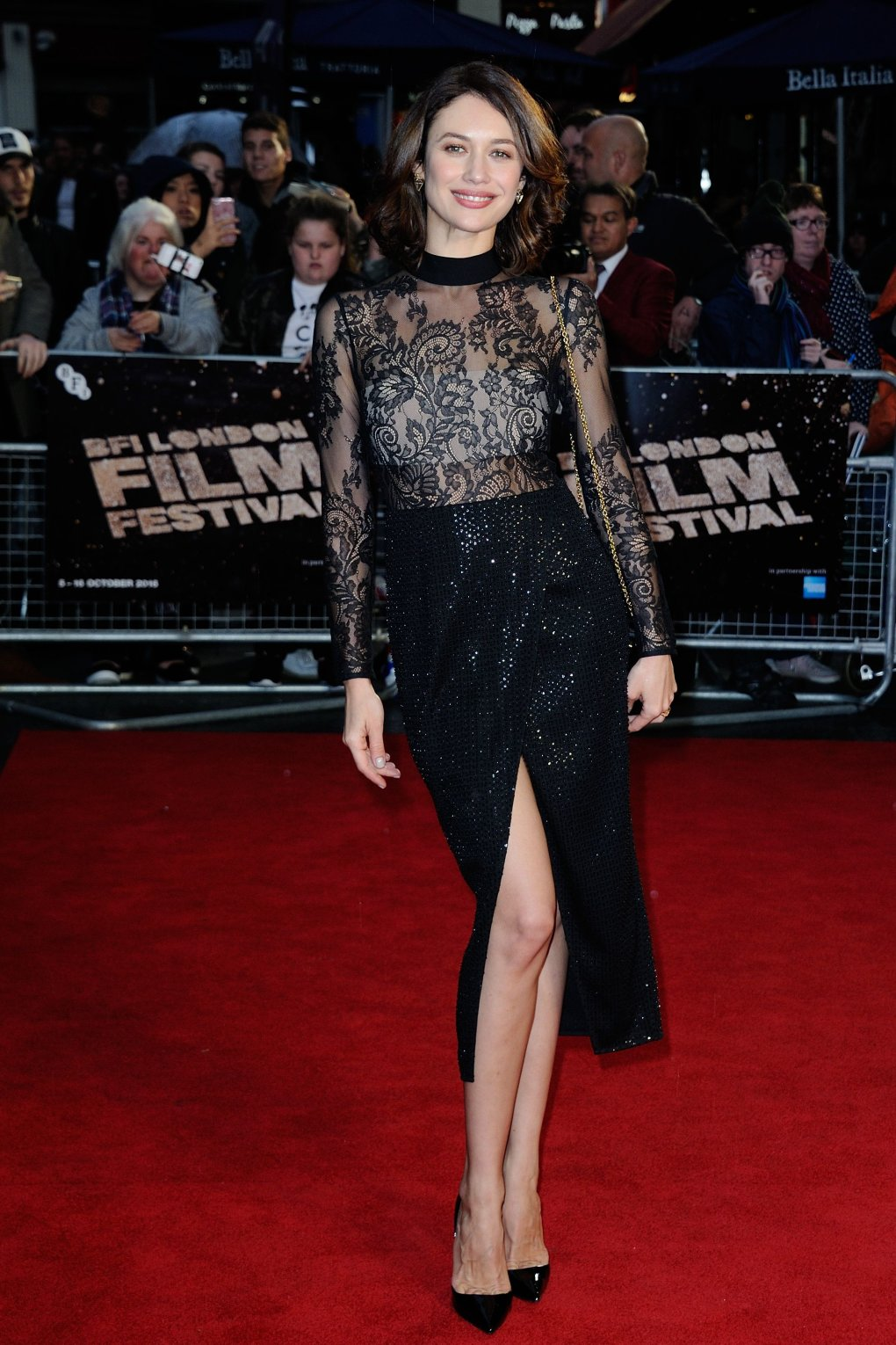 olga kurylenko snowden premiere during bfi london film festival london aic