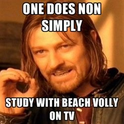 does not simply study beach volly