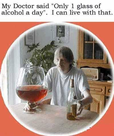 one glass - very funny pics