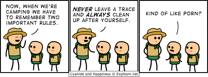 outdoors - cyanide & happiness pt 3