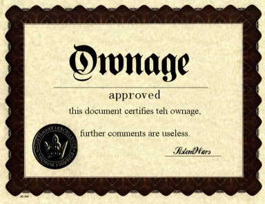 ownage aproved